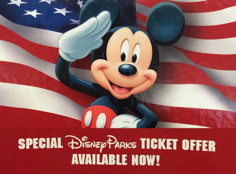 Disney Armed Forces Salute Military Discounted Tickets